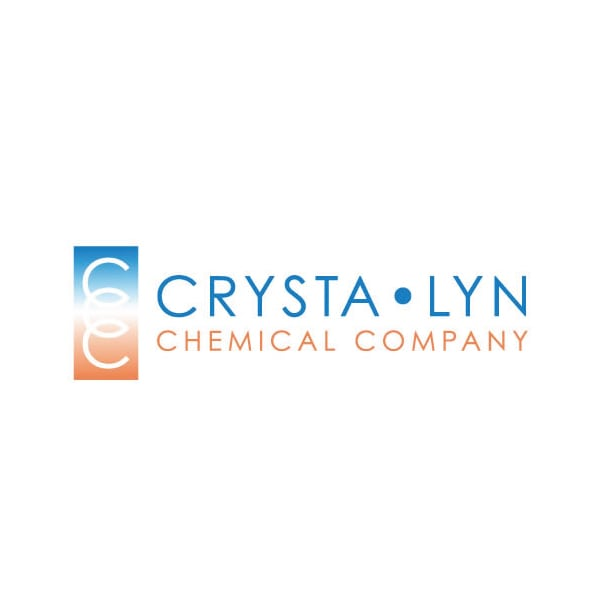 Company Logo Design | Crysta Lyn Chemical Company |target market focused on development, manufacturing, fine chemicals | business located in Binghamton, NY