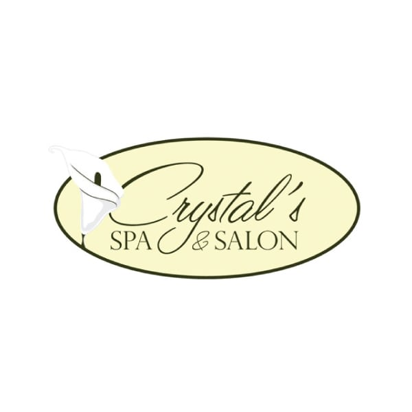 Boutique Logo Design | Crystal's Spa & Salon |target market focus on men, women, haircare, and spa services | spa and salon located in Ithaca, NY