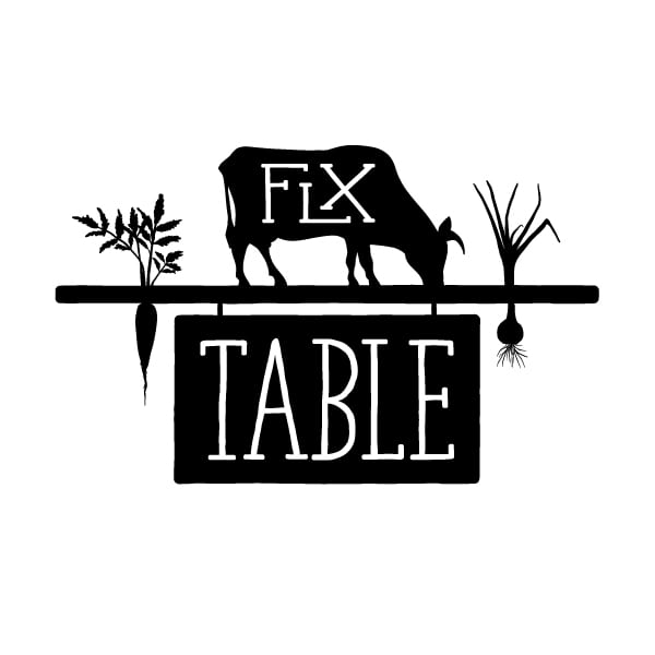 Restaurant Logo Design| FLX Table | owned by chef and master sommelier Christopher Bates|focused target market of acclaimed food and wine, fresh local foods, artisanal food presentation, bold experience, unique menu| located in Geneva, NY, Finger Lakes