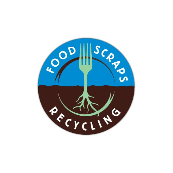 Recyling Program Logo Design | Food Scraps Recycling Program | target market focused on recycling, food storage, composting, enviornmental impacts, and informational programs | located in Ithaca, NY, Tompkins County