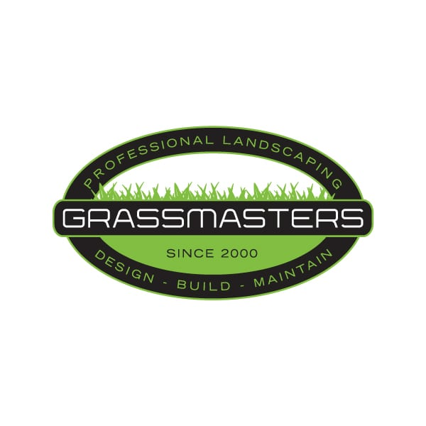 Business Logo Design | Grassmasters Professional Landscaping |target market of landscaping, lawn maitanance, drainage, hardscaping, concrete work, timber construction, land clearing, driveways, excavation, and design consultation | landscaping buiness located in Freeville, NY