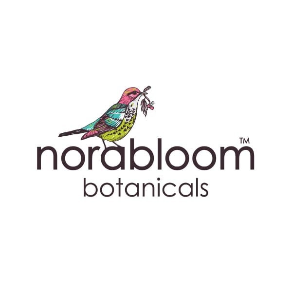 Feminine Boutique Logo Design | Norabloom Botanicals | target market of health conscious, women, skin care and cosmetics | organic, natural, botanical brand located in Ithaca, NY