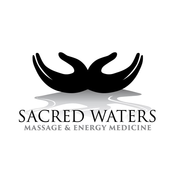 Small Business Logo Design | Sacred Waters Massage & Energy Medicine | focused target market of energy medicine, energy work, massage, teaching, wellness, and spiritual coaching | small business located in Berkshire, NY