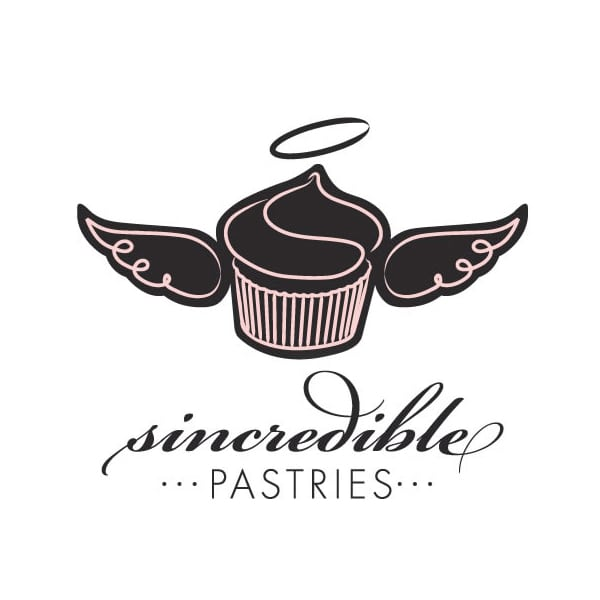 Pastery Boutique Logo Design | Sincredible Pastries |target market focused on sweets enthusiasts, families, specialty wedding cakes, cupcakes, and holiday parties | specialty bakery located in Lansing, NY