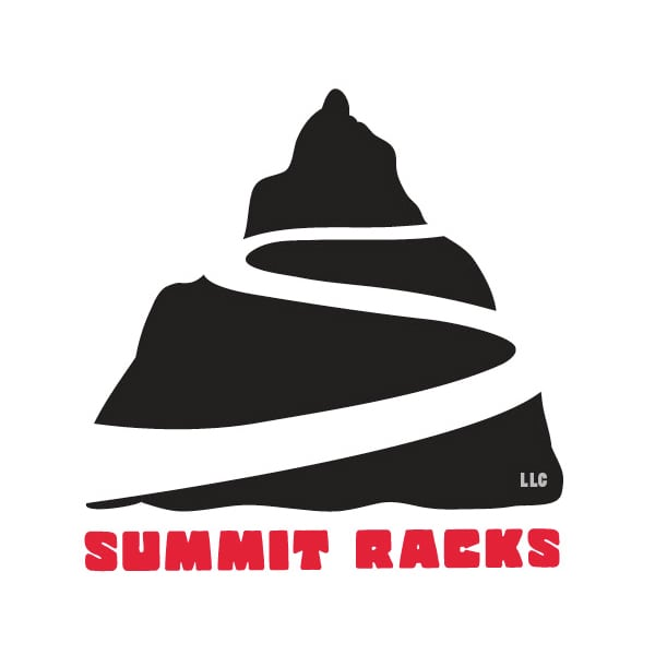 Business Logo Design | Summit Racks | focused target market on moutain bikers and outdoor enthusiasts | business located in Virgil, NY