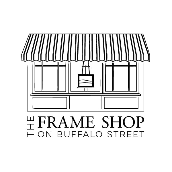 Boutique Business Logo Design | The Frame Shop |target market focused towards specialty framing and matting services, canvas stretching, custom engraving, hanging and delivery services | boutique frame shop located in Ithaca, NY