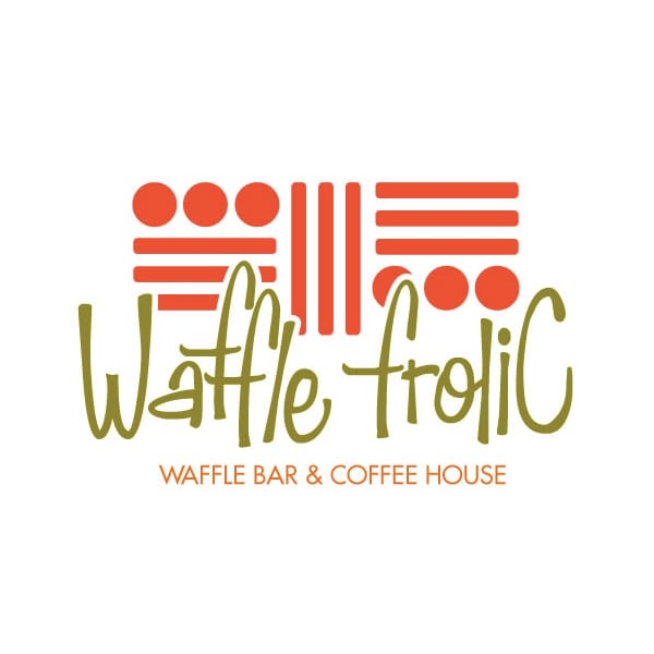 Restaurant Logo Design | Waffle Frolic Waffle Bar & Coffee House | target market includes ithaca college and cornell university students | coffee house and restaurant located on the downtown Ithaca Commons in Ithaca, NY