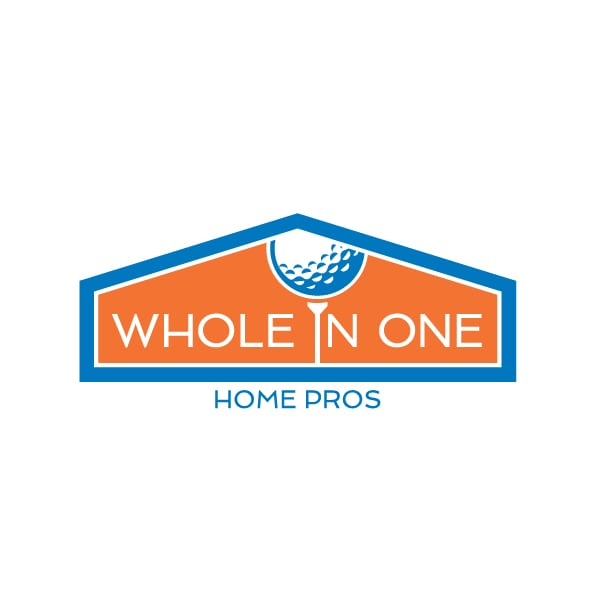 Small Business Logo Design | Whole in One Home Pros | focused target market of landscaping, hardscaping, home repair|located in Ithaca, NY