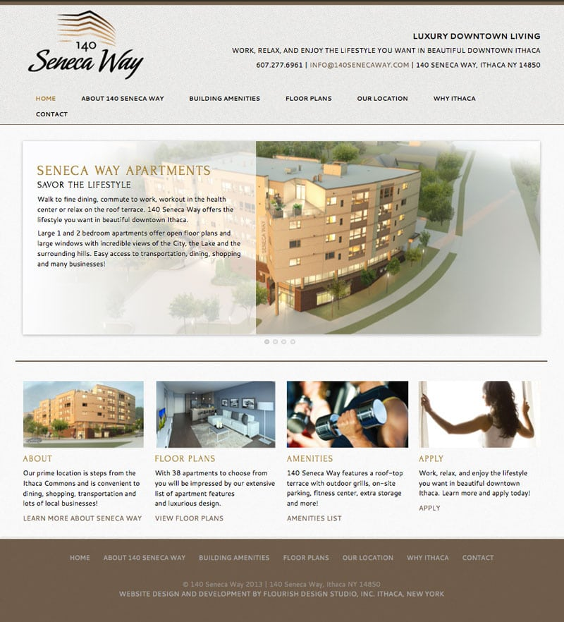 Website Design, 140 Seneca Way |target market for residents and businesses of Ithaca | located near downtown Ithaca, New York