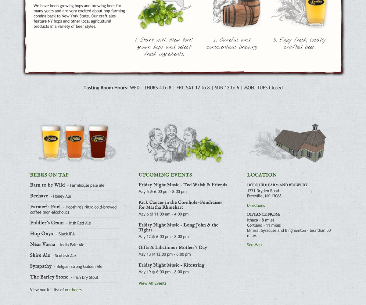 Website Design for Hopshire Farm And Brewery