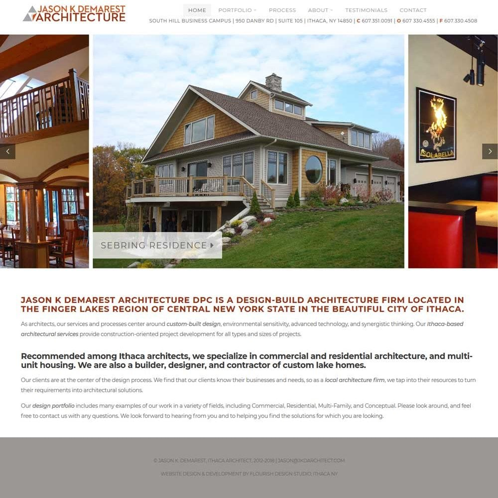Architect Web Design | Commercial and Residential Architecture in Ithaca and Finger Lakes, New York