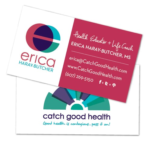 Business Card Design | Erica Haray Butcher | focused target market of health, education, and life coaching |located in New York, NY
