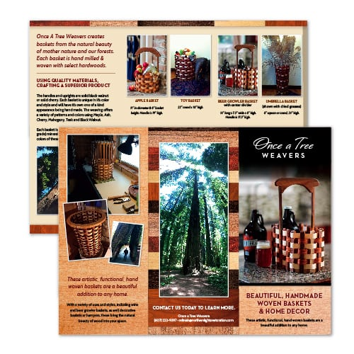 Brochure Design| Northern Lights Restoration | focused target market of restoration, flooring, wood work, and environmentally friendly | restoration business located in Spencer, NY
