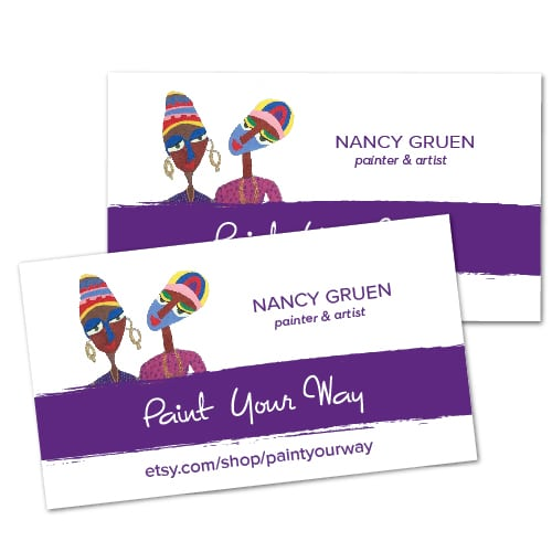 Business Card Design| Paint Your Way | target market focused on hand painted, handcrafted, jewelry| small business located in Ithaca, NY