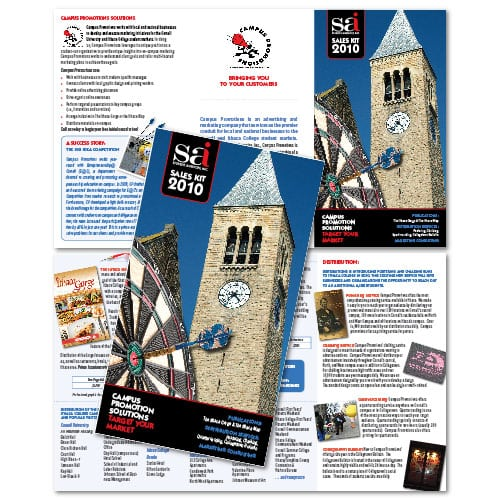 Brochure Design | Cornell University Student Association | target market focused on student sales, business, and marketing | located in Ithaca, NY