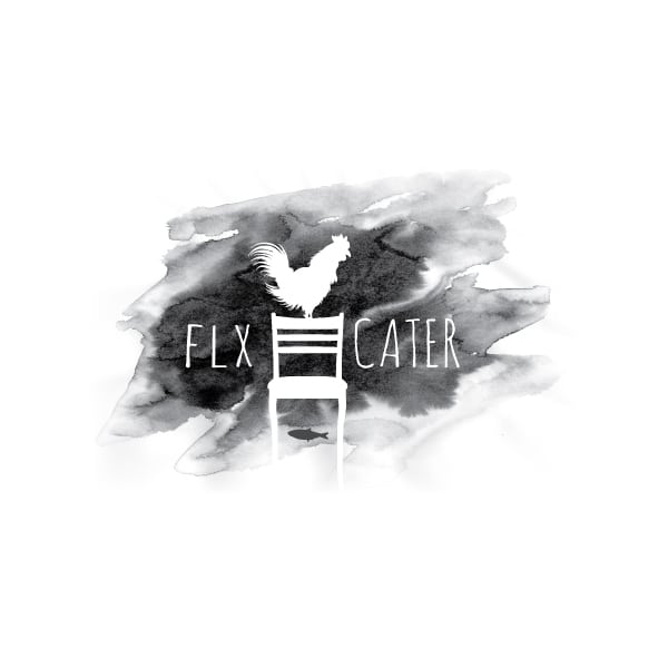 Restaurant Logo Design| FLX Cater|owned by master sommelier Christopher Bates| target market of catering, ecclaimed food, event services, and multi course tasting menu | located in Dundee, NY