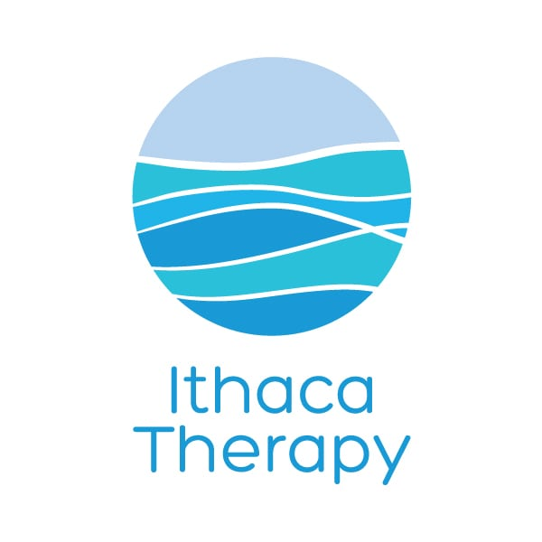 Small Business Logo Design | Ithaca Therapy | Carmen Munson | focused target market of men, women, college students, brief therapy, ACT method | located in Ithaca, NY and Cortland, NY