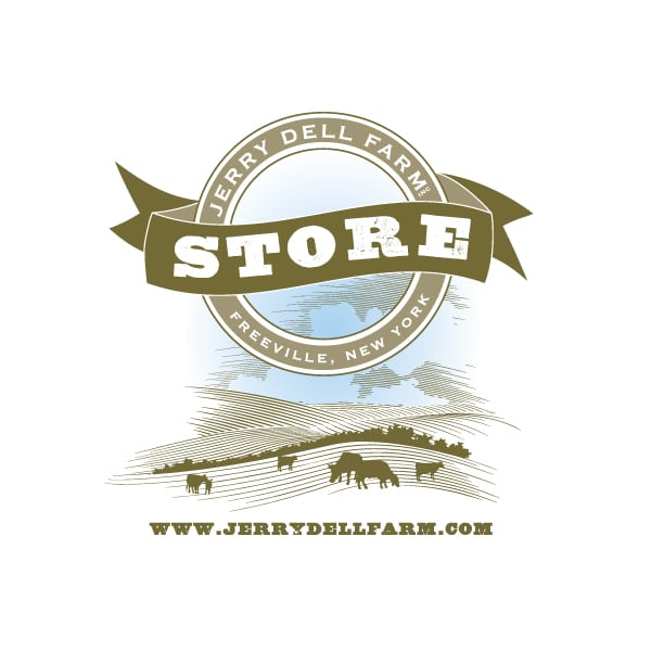 Small Business Logo Design| Jerry Dell Farm Store|Certified Organic|target market focus on fresh, locally grown food and produce | located in Freeville, NY