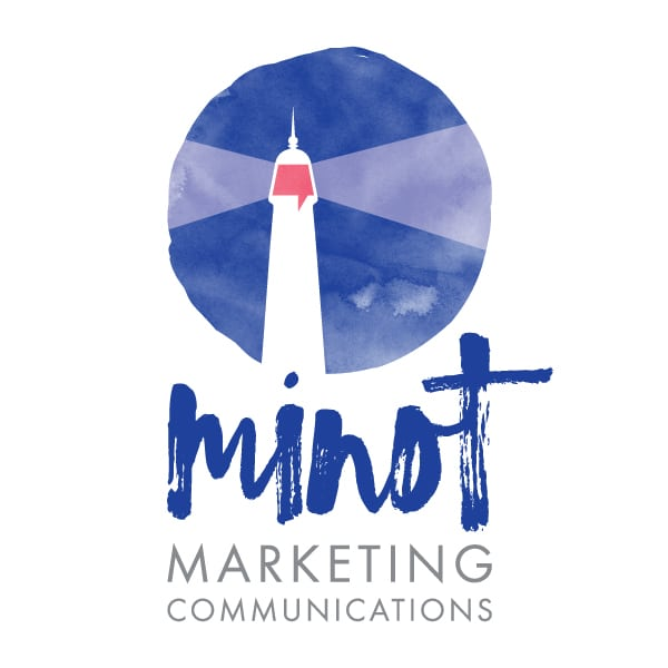 Business Consultant Logo Design | Minot Marketing Communications | focused target market of marketing, communications, and businesses | located in Marlborough, CT