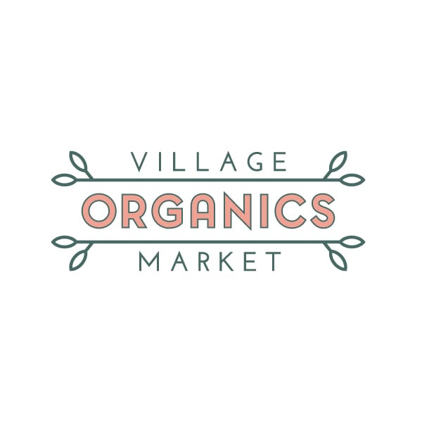 Boutique Logo Design | Village Organics Market |Certified Organic | focused target market of organic food and produce | located in Roslyn, NY
