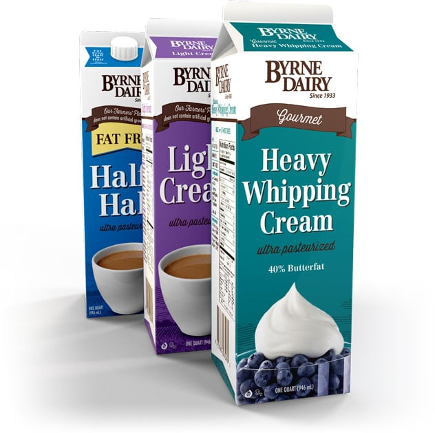 Cardboard Creamer Carton Packaging | Byrne Dairy | located in Cortland and Syracuse, NY