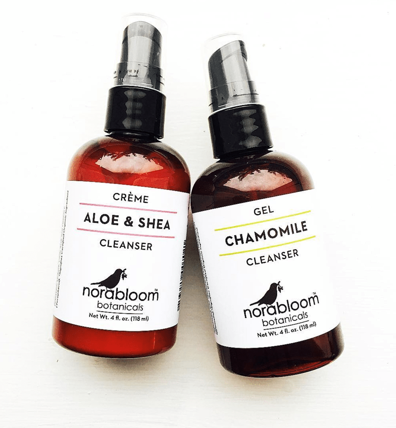 Cleanser Skin Care Labels | Norabloom Botanicals | Organic Skincare | based in Ithaca, NY