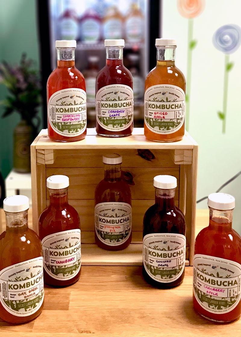Secret Garden Herbs Kombucha Labels   Flourish Design Studio